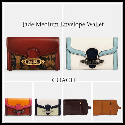 定番 COACH★JADE MEDIUM ENVELOPE WALLET 折財布