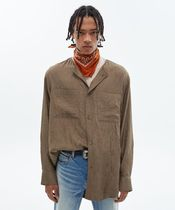 ANDESSON BELL - Collarless wrinkled shirt