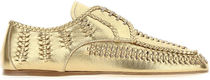 PRADA☆GOLD LEATHER LACE-UP SHOES