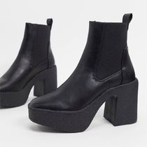 ASOS Truffle Collection chunky chelsea heeled ankle boots