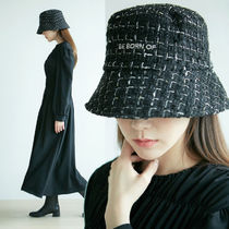 BE BORN OF 韓国アイドル着用 Tweed bucket hat (Check)