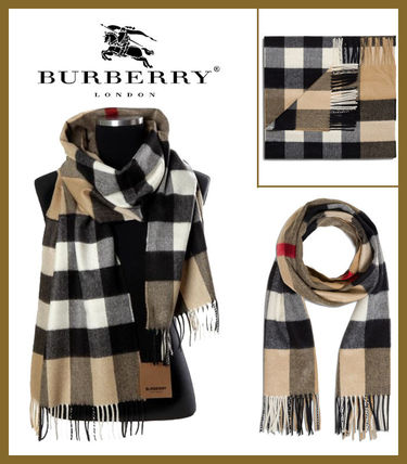 【Burberry】正規品 CHECK CASHMERE SCARF