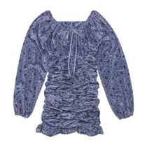 ANOTHER A(アナザーエー) ワンピース 日本未入荷アイテム☆Flower Velvet Mini Dress/全2色/ANOTHER A
