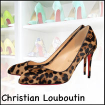 ★Christian Louboutin★Corneille 85mm ヒョウ柄 パンプス