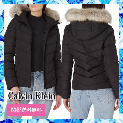 Calvin Klein Jeans Short Down Fitted Puffer○関送無料○