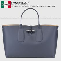 Longchamp ROSEAU L SMOOTH LEATHER TOP HANDLE BAG