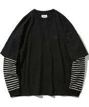 [ COVERNAT ] LAYERED AUTHENTIC LONG SLEEVE (Stripe black)