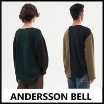 ★ANDERSSON BELL★2020FW★CONTRAST BOATNECK PULLOVER_2色