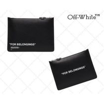 """★Off-White★クラッチバッグ♪""""For Belongings"""" プリント"""
