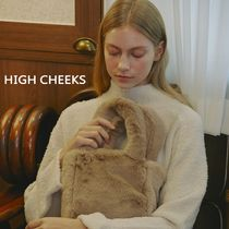 【HIGH CHEEKS】韓国発★ Teddy Fur Tote Bag トートバッグ 5色