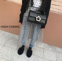 【HIGH CHEEKS】韓国発★ Heyday Flower Buckle Bag