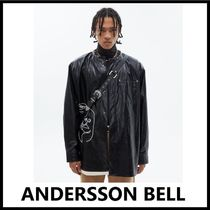 ★ANDERSSON BELL★2020FW★FAUX LEATHER EMBROIDERY SHIRTS