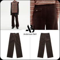 [ANDERSSON BELL]★CARGO POCKET CORDUROY WIDE LEGGED TROUSERS