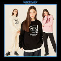 [ODDSTUDIO] FACE LOOSE-FIT SWEAT SHIRTS 3COLOR 送料無料 韓国