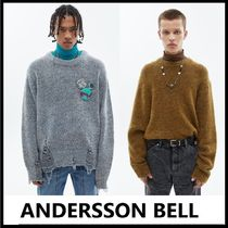 ★ANDERSSON BELL★2020FW★DAMAGED CREW NECK SWEATER_2色
