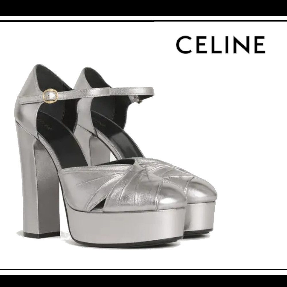 20AW★CELINE★ MELODY メタリック パンプス ☆ (CELINE/パンプス) 341993291C.36AG
