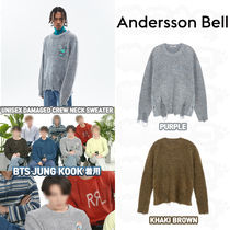 ★ANDERSSON BELL★BTS JUNGKOOK着用 DAMAGED CREW NECK SWEATER