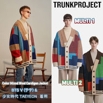 ★Trunk Project★BTS V 着用 Color Mixed Wool Cardigan Jacket