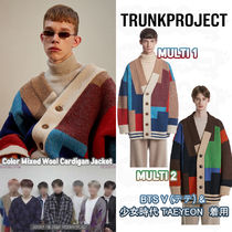 TRUNK PROJECT(トランク プロジェクト) カーディガン ★Trunk Project★BTS V 着用 Color Mixed Wool Cardigan Jacket