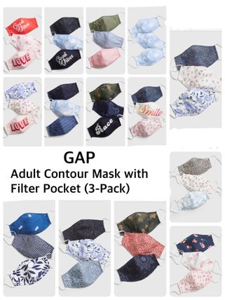 〈GAP〉★ 2020AW★Contour Mask with Filter Pocket (3-Pack)