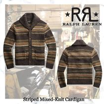 NEW!ロンハーマン取り扱い RRL-Striped Mixed-Knit Cardigan