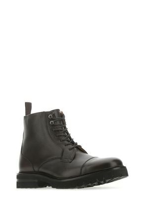 CHURCH'S 〓 Brown leather Elborough ankle boots