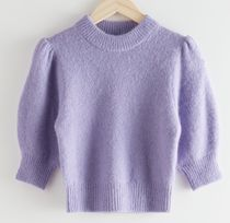 """& Other Stories"" Alpaca Wool Puff Sleeve Jumper Lilac"