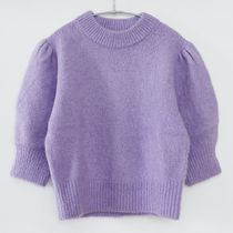 """""""& Other Stories"""" Alpaca Wool Puff Sleeve Jumper Lilac"""