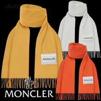 Moncler★2020AW★ロゴ入ウールフリンジマフラー★送料&関税込