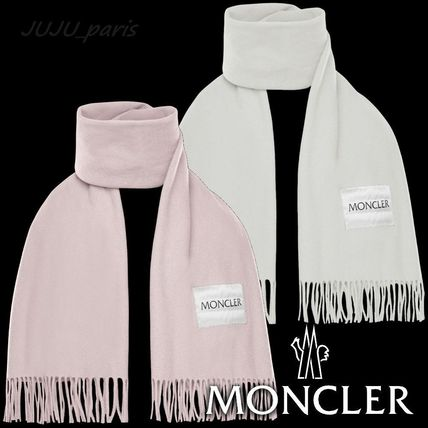 Moncler★2020AW★ロゴ入ウールフリンジマフラー★★送料&関税込