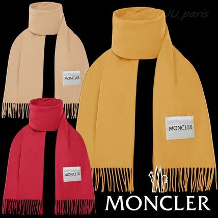 Moncler★2020AW★★ロゴ入ウールフリンジマフラー★送料&関税込