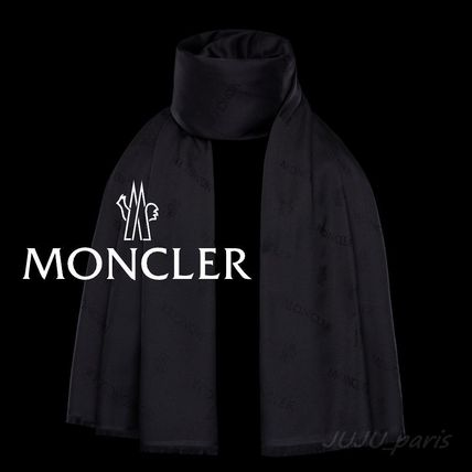 Moncler★2020AW★ロゴ入シルク&ウールマフラー★送料&関税込