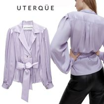 【Uterque】LILAC SHIRT WITH SHOULDERS