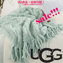 ★ UGG ★ Lexi Faux Fur Throw Blanket Blue ブランケット