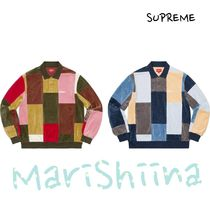 SUPREME Patchwork Velour L/S Polo FW20 Week10