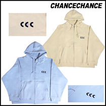 【CHANCECHANCE】BLACK & PURPLE CEC ZIP-UP HOODIE 起毛 2色