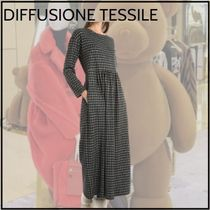 【DIFFUSIONE TESSILE】ジャカード加工★ロングフレアワンピース