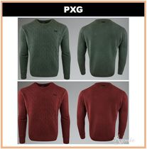 【PXG】CABLE KNIT CREW NECK ◆セーター