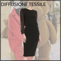 【DIFFUSIONE TESSILE】ピュアシルク★ロングエットワンピース★