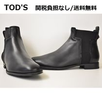 TOD'S トッズ◆レザー アンクルブーツ ロゴ  関税&送料無料