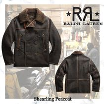 NEW!ロンハーマン取り扱い【RRL】Shearling Peacoat- Black