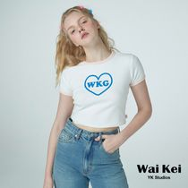 【Wai Kei】NiziUリオ着用☆WKG heart logo crop Tシャツ white