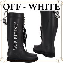 VIP価格【OFF - WHITE】'For Riding' ウェリントン ブーツ