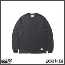 [CRITIC] PIGMENT POCKET LONG SLEEVES(CHARCOAL)