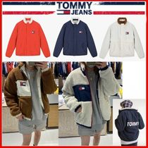 ◆TOMMY JEANS◆ロゴリバーシブルシェルパジャケット◆正規品◆