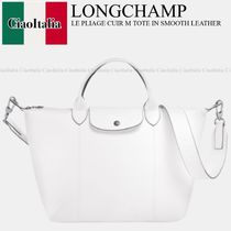 Longchamp LE PLIAGE CUIR M TOTE IN SMOOTH LEATHER