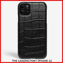 関税送料込☆THE CASEFACTORY☆IPHONE 12 CROCODILE BLACK