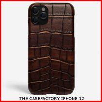 関税送料込☆THE CASEFACTORY☆IPHONE 12 CROCODILE COGNAC