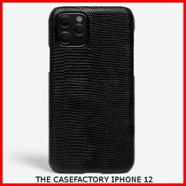 関税送料込☆THE CASEFACTORY☆IPHONE 12 LIZARD BLACK