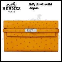 HERMES☆エルメス☆Kelly classic wallet_ Safran